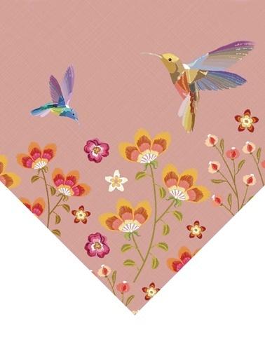 The Mia Birdy Masa Örtüsü - 150 x 150 Cm - Pembe Pembe